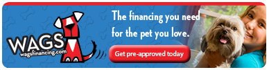 Financing with WAGS Lending is Available